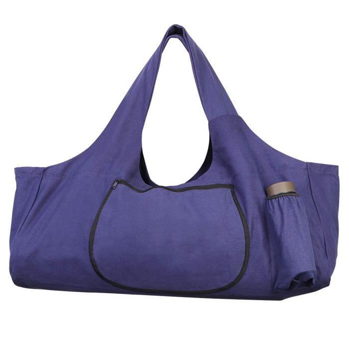 -TENDYCOCO Sac pour Tapis de Yoga Grand Tapis de Yoga fourre-Tout avec sacoches avec Poches lat&eacuterales et Fermetures &agrave