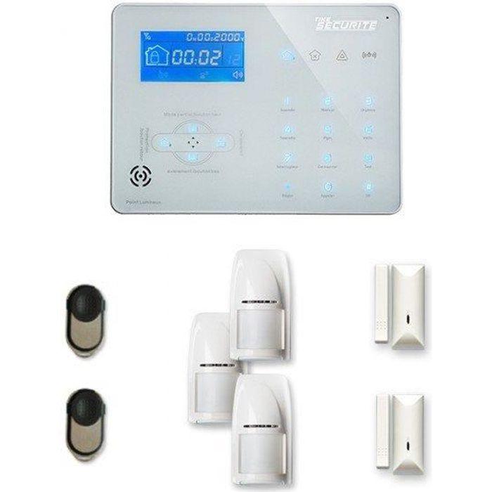 Alarme maison sans fil ICE-B 2 à 3 pièces mouvement + intrusion - Compatible Box internet