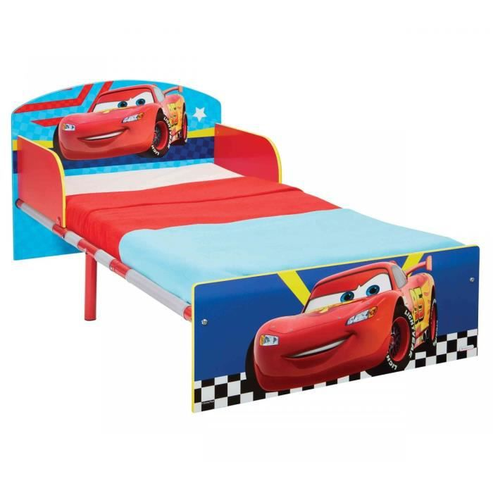 CARS Lit pour Enfants pour Matelas 140cm x 70 cm