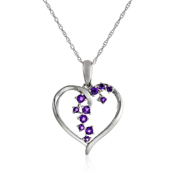 Starburst Heart Pendant Necklace, 18 SLCXT
