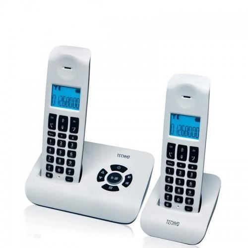 t l phone r pondeur duo white design r tro clair achat. Black Bedroom Furniture Sets. Home Design Ideas