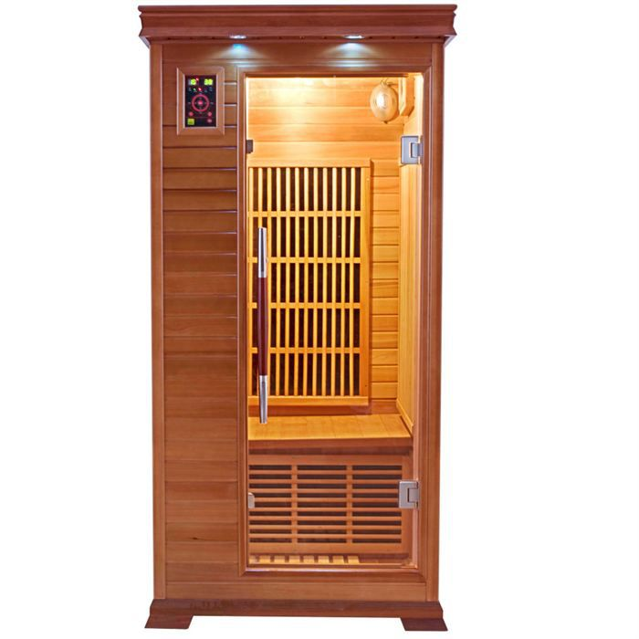 sauna infrarouge luxe 1 place achat vente kit sauna. Black Bedroom Furniture Sets. Home Design Ideas