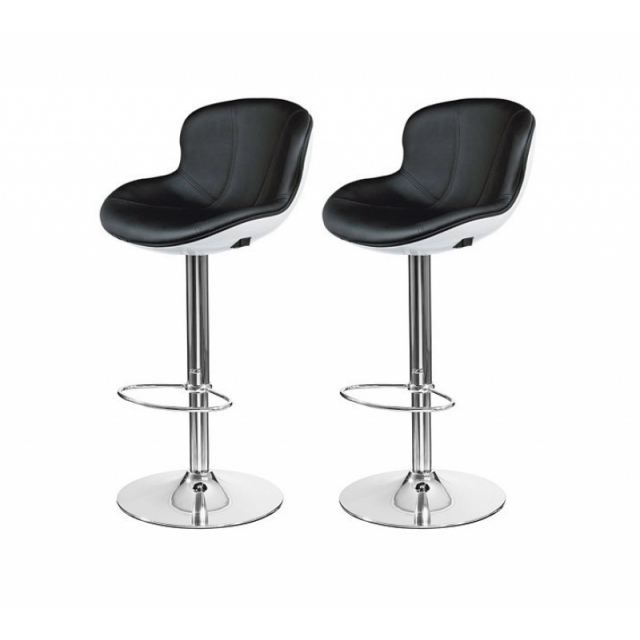 tabouret de bar blanc noir x2 golf achat vente tabouret de bar cdiscount. Black Bedroom Furniture Sets. Home Design Ideas