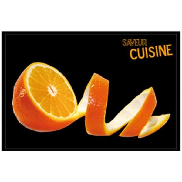 Tapis de cuisine orange achat vente tapis de cuisine for Tapis de cuisine orange
