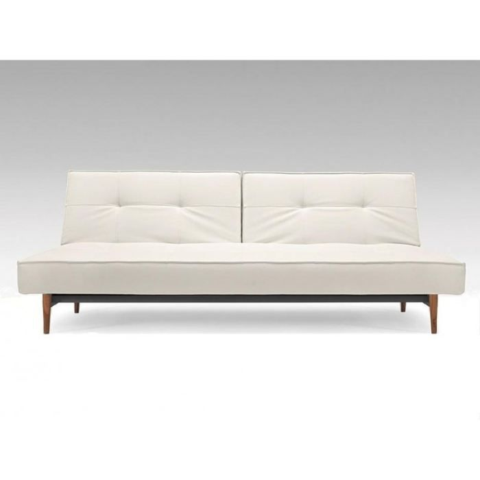 Canape lit design splitback bois blanc convertible achat for Canape lit design