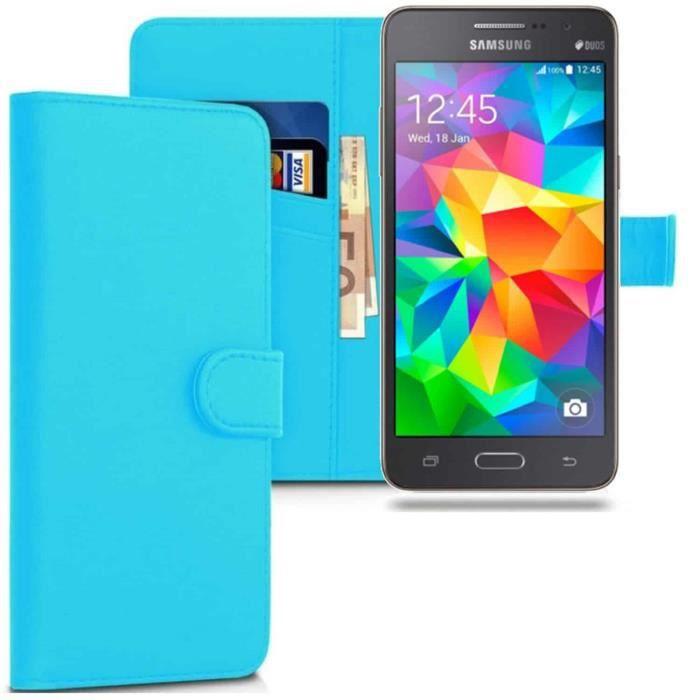 Coque pour Samsung Galaxy Grand Prime, Housse Cuir
