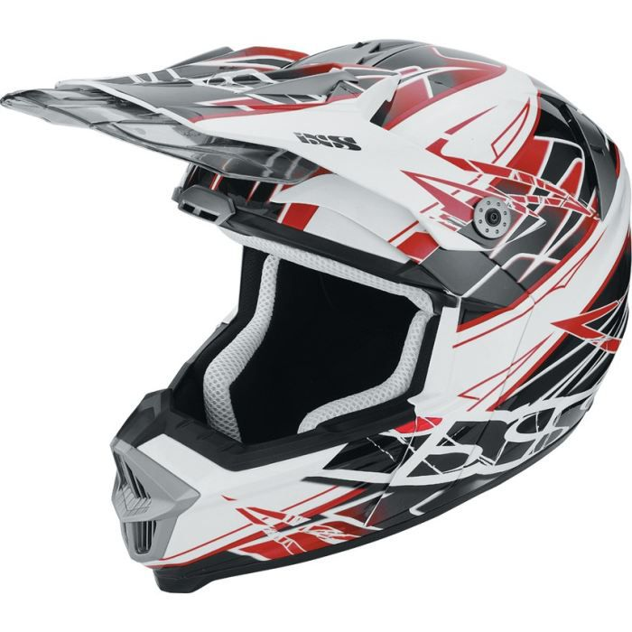 Ixs casque cross hx 178 power noir rouge blanc achat for Interieur paupiere inferieure rouge