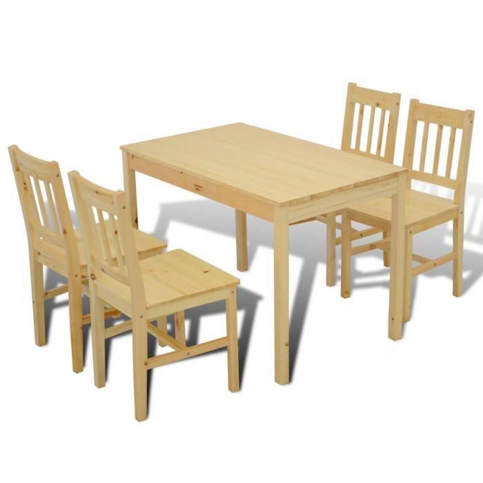 Set Table Cuisine Avec 4 Chaises Table A Manger En Bois Achat