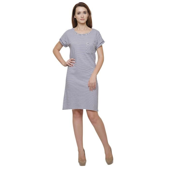 Womens Stripped Bodycon Dress ForG70EX Taille-46