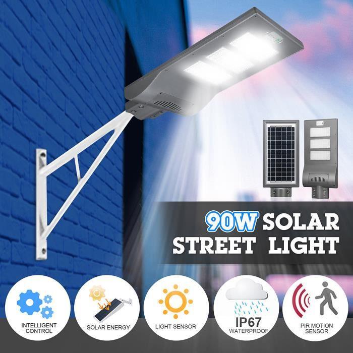 NEUFU LED Lampe Solaire PIR Détecteur Mouvement Éclairage Jardin Extérieur  90W