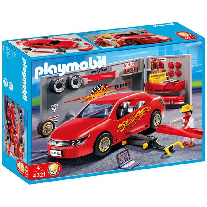 playmobil 4321 voiture atelier tunning achat vente univers miniature black friday le 24 11. Black Bedroom Furniture Sets. Home Design Ideas