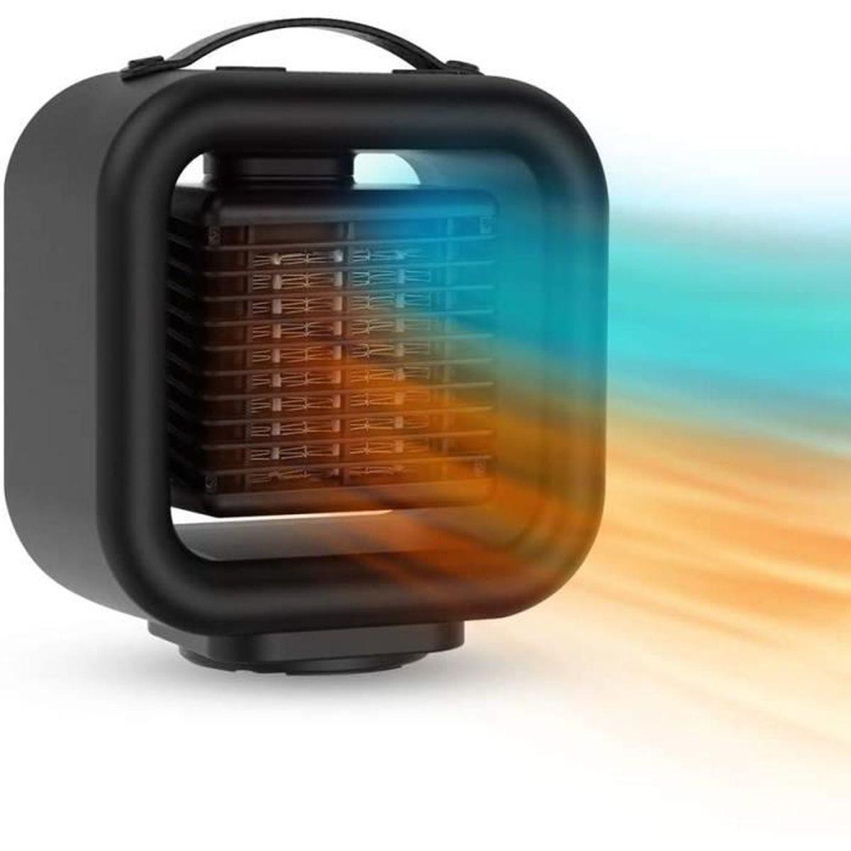 salle de bain bureau Radiateur soufflant Qfun 1000 W pour salle de bain /à /économie d/énergie avec oscillation automatique Tr/ès silencieux pour salon
