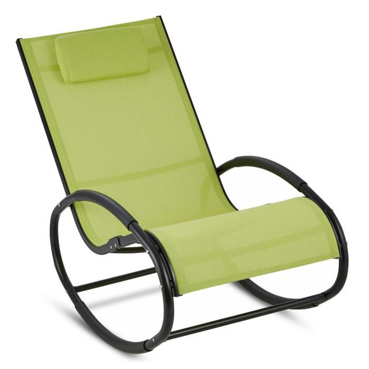 blumfeldt retiro fauteuil bascule rocking chair aluminium polyester vert achat vente. Black Bedroom Furniture Sets. Home Design Ideas
