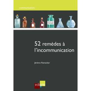 LIVRE GESTION 52 remèdes à l'incommunication