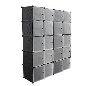 ARMOIRE DE CHAMBRE Armoire Penderie 20 Cubes - Meuble Etagères De Ran