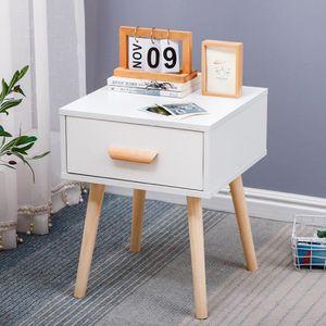 CHEVET Table de chevet simple nordique blanc 40 * 40 * 50