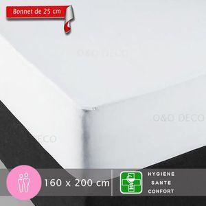 PROTÈGE MATELAS  Protège Matelas 160X200 cm - Bonnet de 25 cm pour