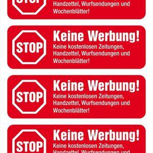 50 Autocollant 6,5 cm STOP Aucune Publicité Noir Sticker Poster Boîte aux lettres post