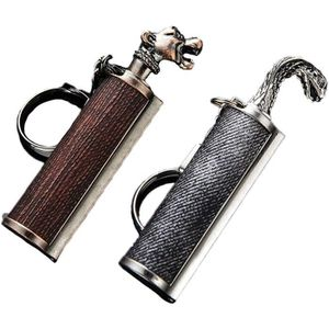 avec Bo/îte-Cadeau Multicolore Dragons Breath Immortel Lighter de D/émarreur Generic Briquet Allume-feu avec Keychain Briquet Porte-cl/és Allume-feu pour Camping Urgence Surviva