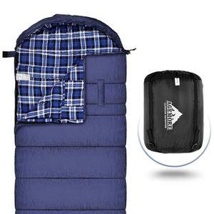 SAC DE COUCHAGE Sac de couchage en flanelle de coton XL pour le ca