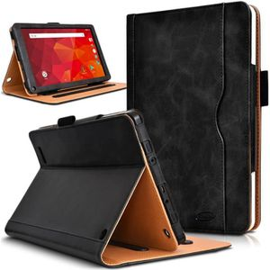 HOUSSE TABLETTE TACTILE Pack Étui de Protection Noir + Verre Flexible + St