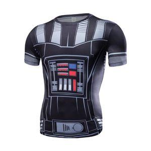 T-SHIRT T Shirt Vintage Homme Star Wars 3D Imprimé Darth V