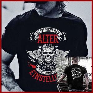 T-SHIRT t - shirt biker es ist nicht das alter es ist die