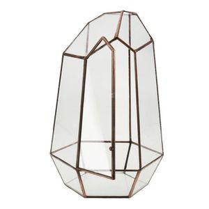 VASE - SOLIFLORE XM522-Decorative Vase de Fleurs en Verre Diamant C