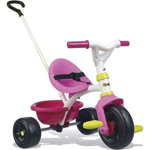 TRICYCLE SMOBY Tricycle Enfant Evolutif Be Fun Rose