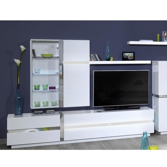 arrow banc tv 220 cm avec clairage led blanc achat vente meuble tv arrow banc tv 220 cm. Black Bedroom Furniture Sets. Home Design Ideas