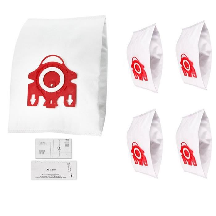 Kit de Sacs aspirateur pour les aspirateurs Miele: 5 sacs + 2 microfiltres (alternative à FJM HyClean, 10123220).