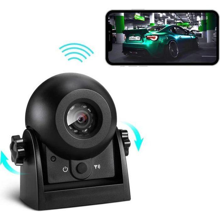 Caméra de recul sans Fil, Uzone WiFi Caméra de recul magnétique Super Vision Nocturne-étanche IP68 Caméra de recul pour Cami 2862