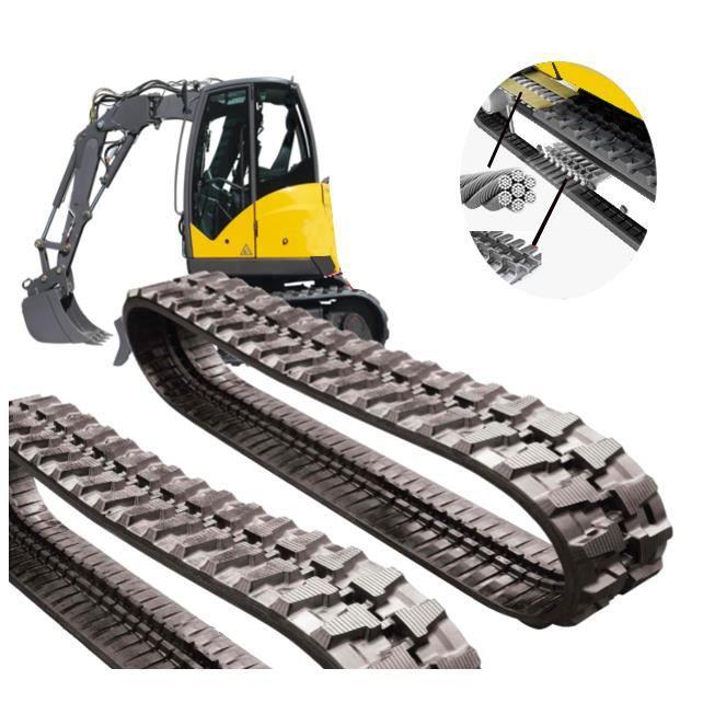 CHENILLE 300x53x80 KUBOTA KX61.3 pour mini pelle en caoutchouc renforcée avec une ceinture en acier.