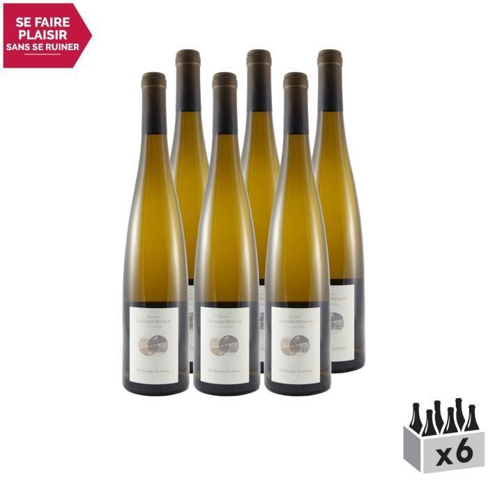 Alsace Gewurztraminer Vieilles Vignes Vendanges Tardives Blanc 2017 - Lot de 6x75cl - Terres d'étoiles - Vin AOC Blanc d' Alsace -