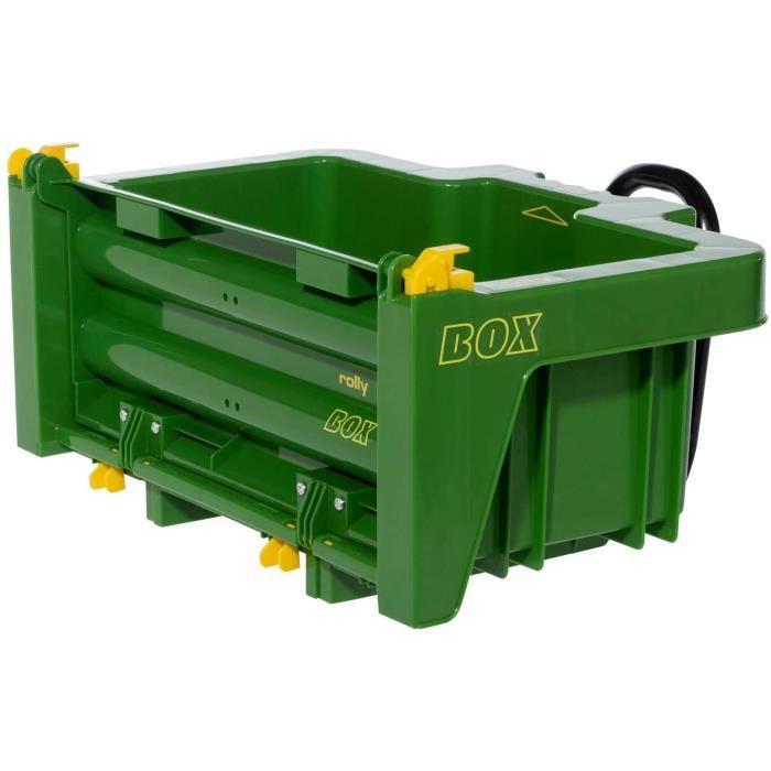 Rolly Toys RollyBox 408931 John Deere Remorque de Tracteur &agrave p&eacutedalage Vert pour Enfants de 3 &agrave 10 Ans[22]
