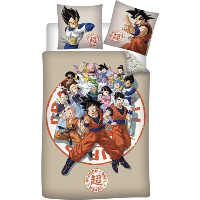 Parure de lit enfant coton bio Dragon Ball Goku