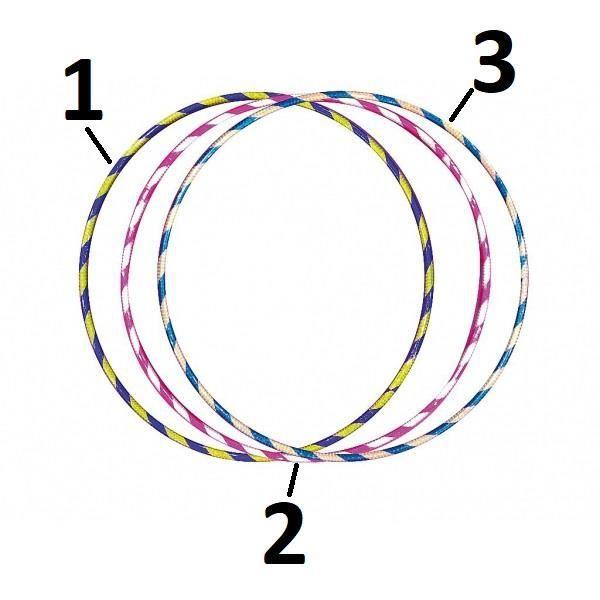 Cerceau Rond Brillant - Mod1 Violet/Or 75cm - Hula Hoop - 210