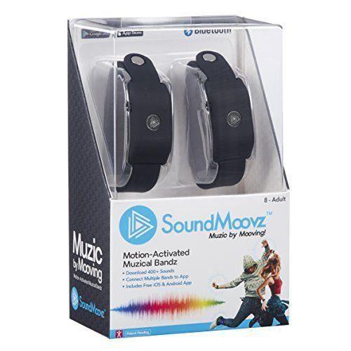 Soundmoovz &ndash&nbspBracelets Music by Moving pour créer et COMPONER Sons et musique Noir - 41238