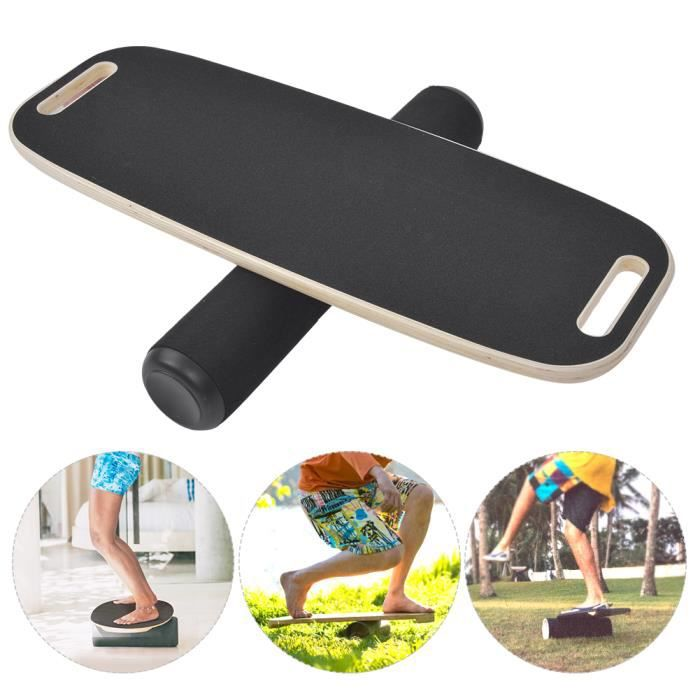 Sonew Planche de fitness en bois Hêtre en bois anti-dérapant Yoga Balance Board réadaptation formation Home Fitness Plate Tool