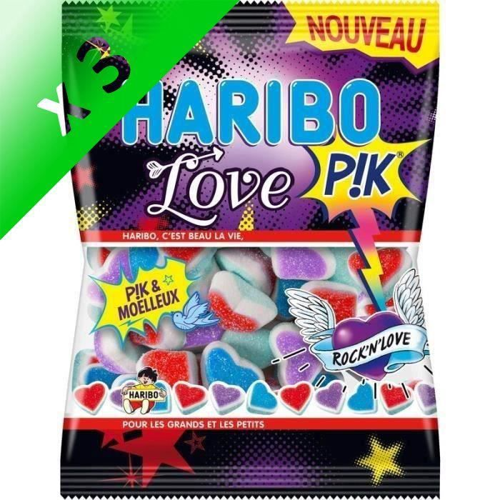 [LOT DE 3] HARIBO Bonbons Love Pik - 225 g