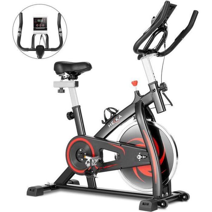Vélo d'appartement Vélo biking Spinning Intérieur Fitness Avec Moniteur Numérique, Roue inertie 8kg, Charge Max 150kg - Noir
