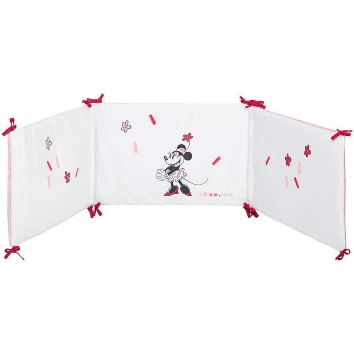 DISNEY Tour de lit Minnie confettis - 40 x 180 cm - Lacet velours 100% polyester