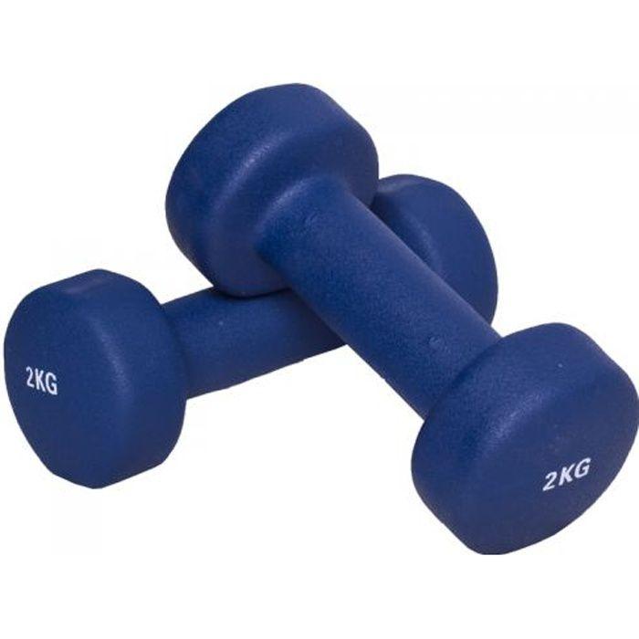 4 KG (2x2,0) Haltère fitness en vinyle bleu