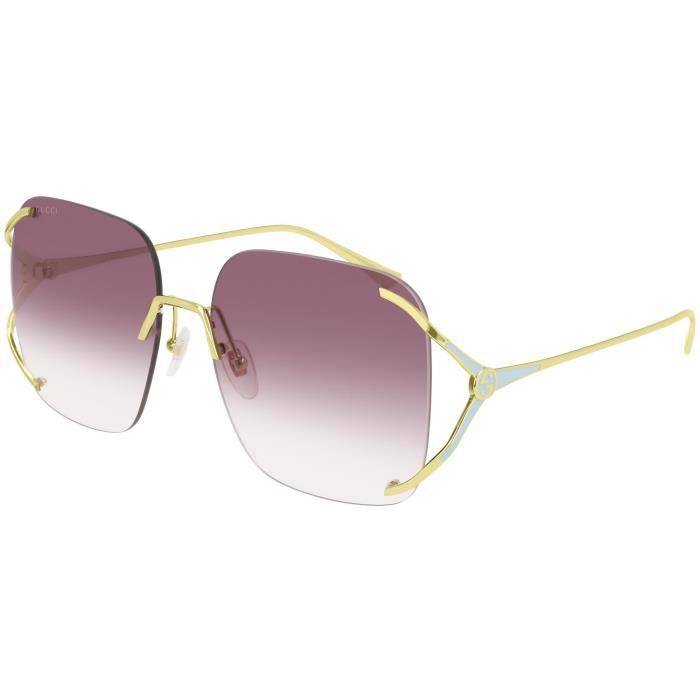 Gucci GG0646S 60/17/135 GOLD/VIOLET SHADED métal femme GG0646S