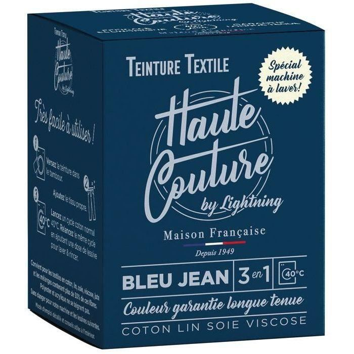 Teinture textile haute couture bleu jean 350g