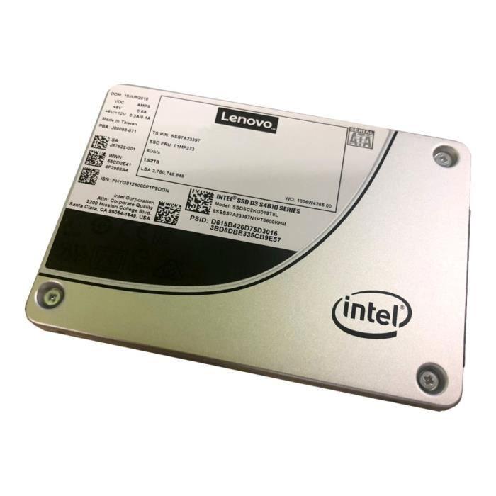 LENOVO Disque dur SSD Interne D3-S4610 - 2.5- - 480 Go - SATA (SATA/600) - 560 Mo/s