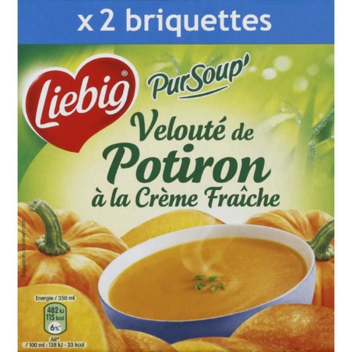Velouté de potiron crème fraiche 2 x 30 cl Liebig