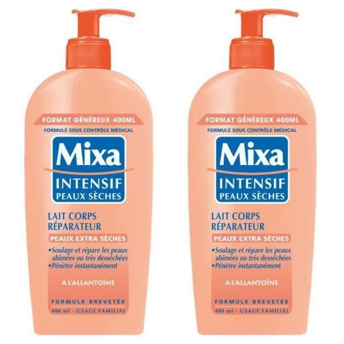 LOT DE 2 - MIXA : Intensif peaux sèches - Intensif peaux sèches - Lait corps réparateur Allantoine 400 ml