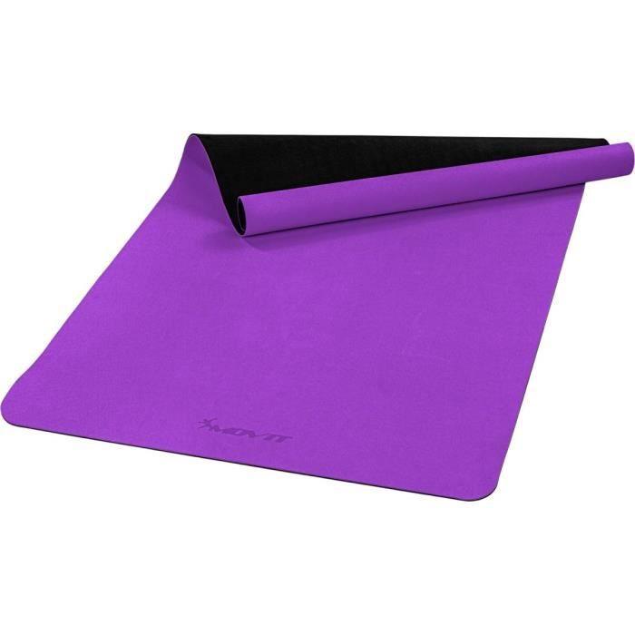MOVIT Tapis de gymnastique XXL TPE, tapis de pilates, tapis d'exercice premium, tapis de yoga, 190 x 100 x 0,6 cm, violet