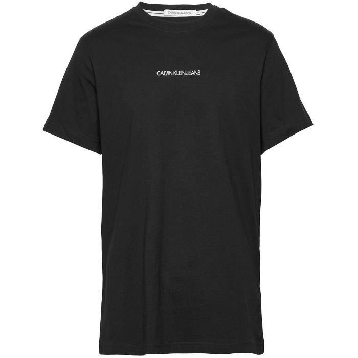 CALVIN KLEIN T-shirt BAE Instit Chest Noir Homme